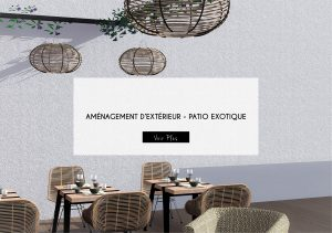 AMENAGEMENT EXTERIEUR PATIO EXOTIQUE