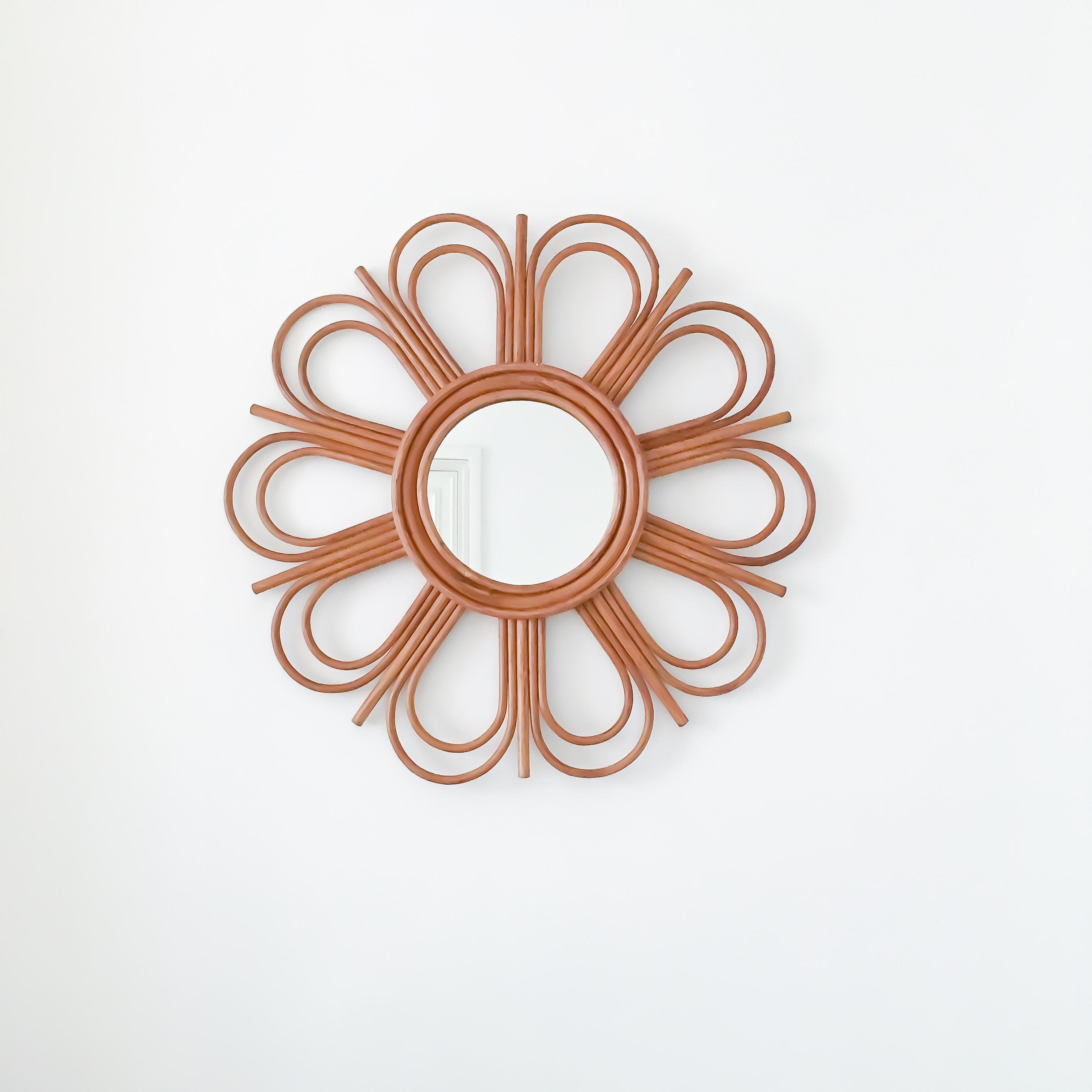 Miroir Rotin L'Atelier DElisa