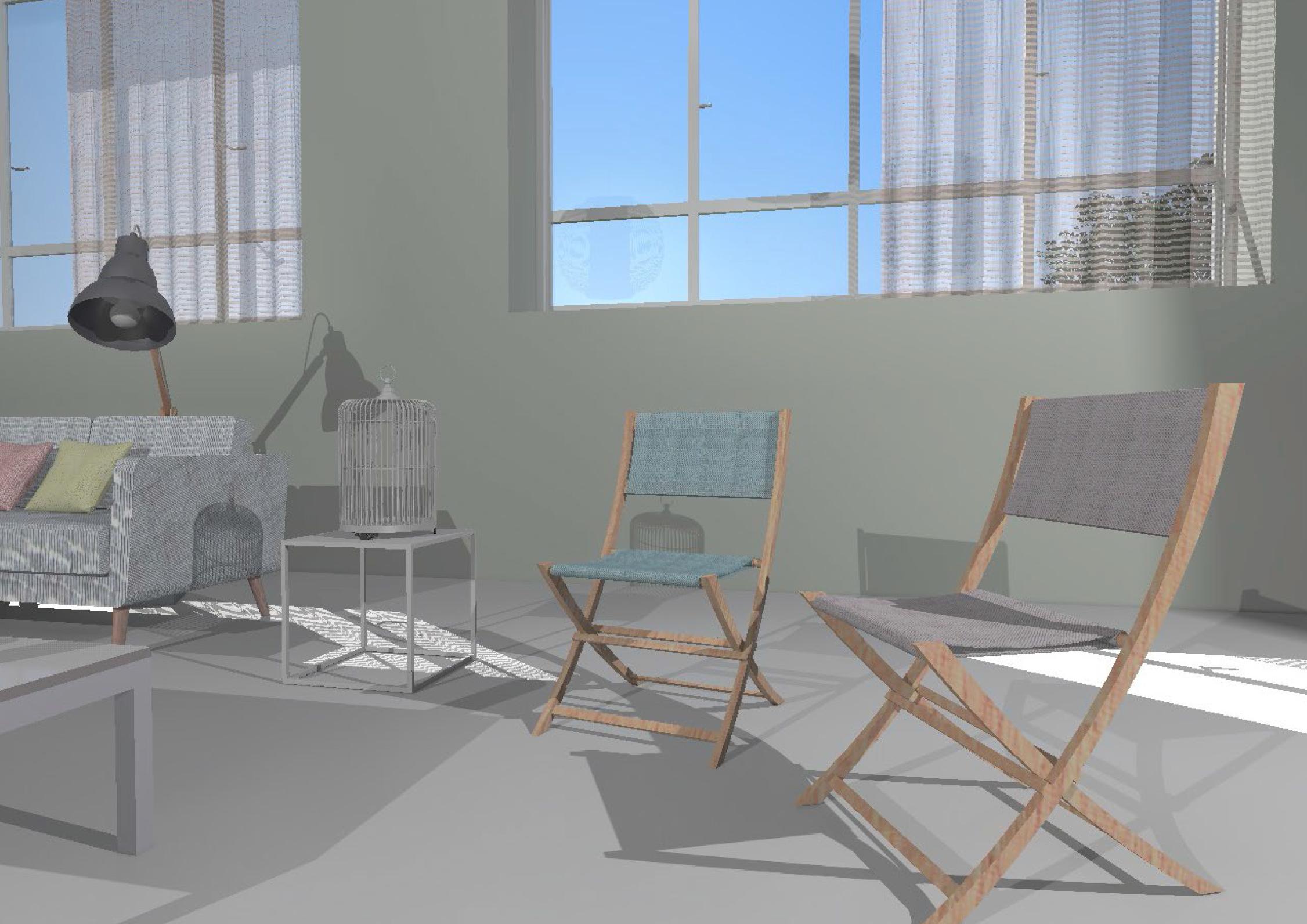 Mise en scène Chaise 3D Bakantsa Alki - Design - Réalisation L'Atelier d'Elisa