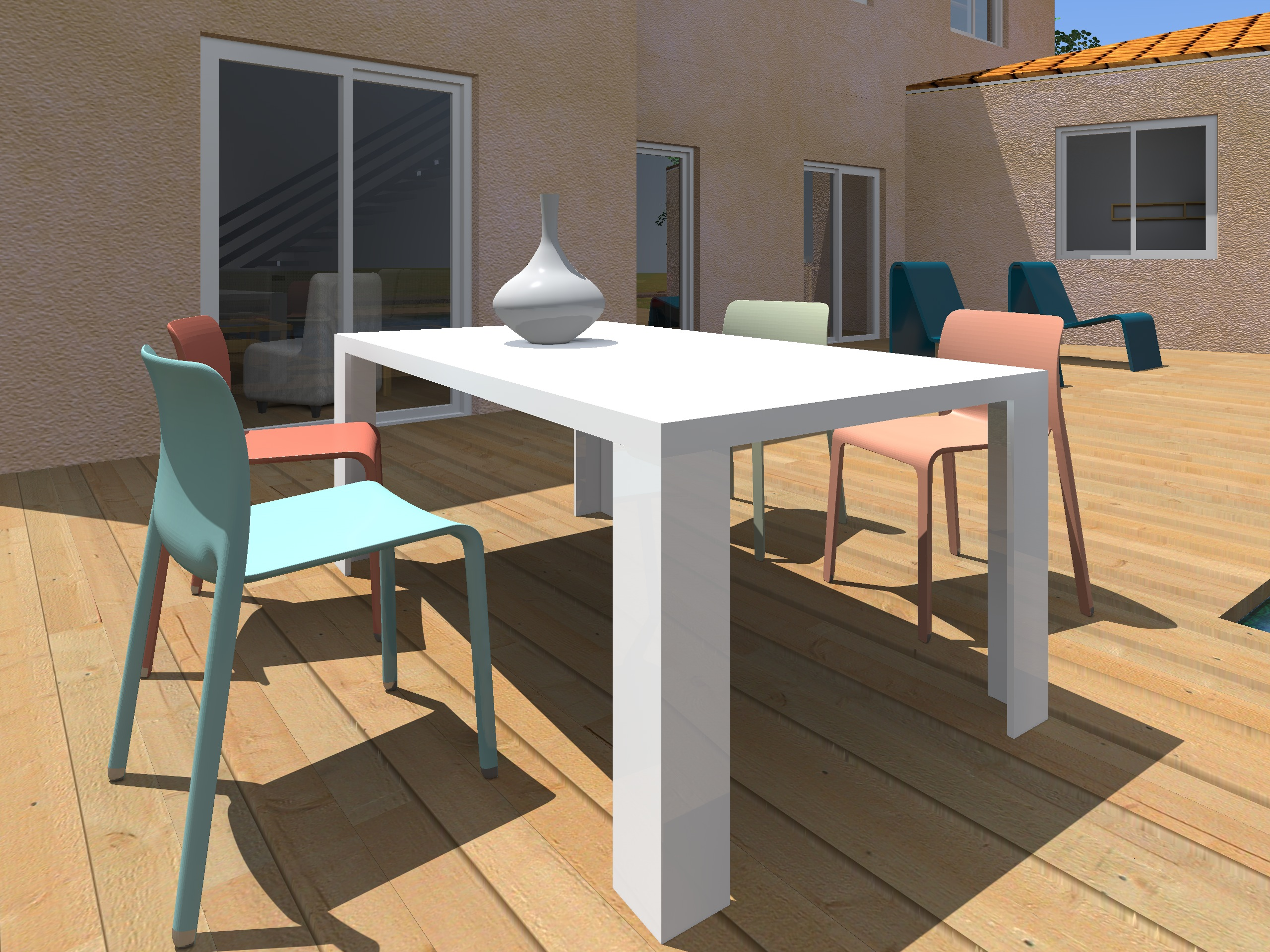 Architecture Maison Nimoise Table terrasse L'Atelier d'Elisa