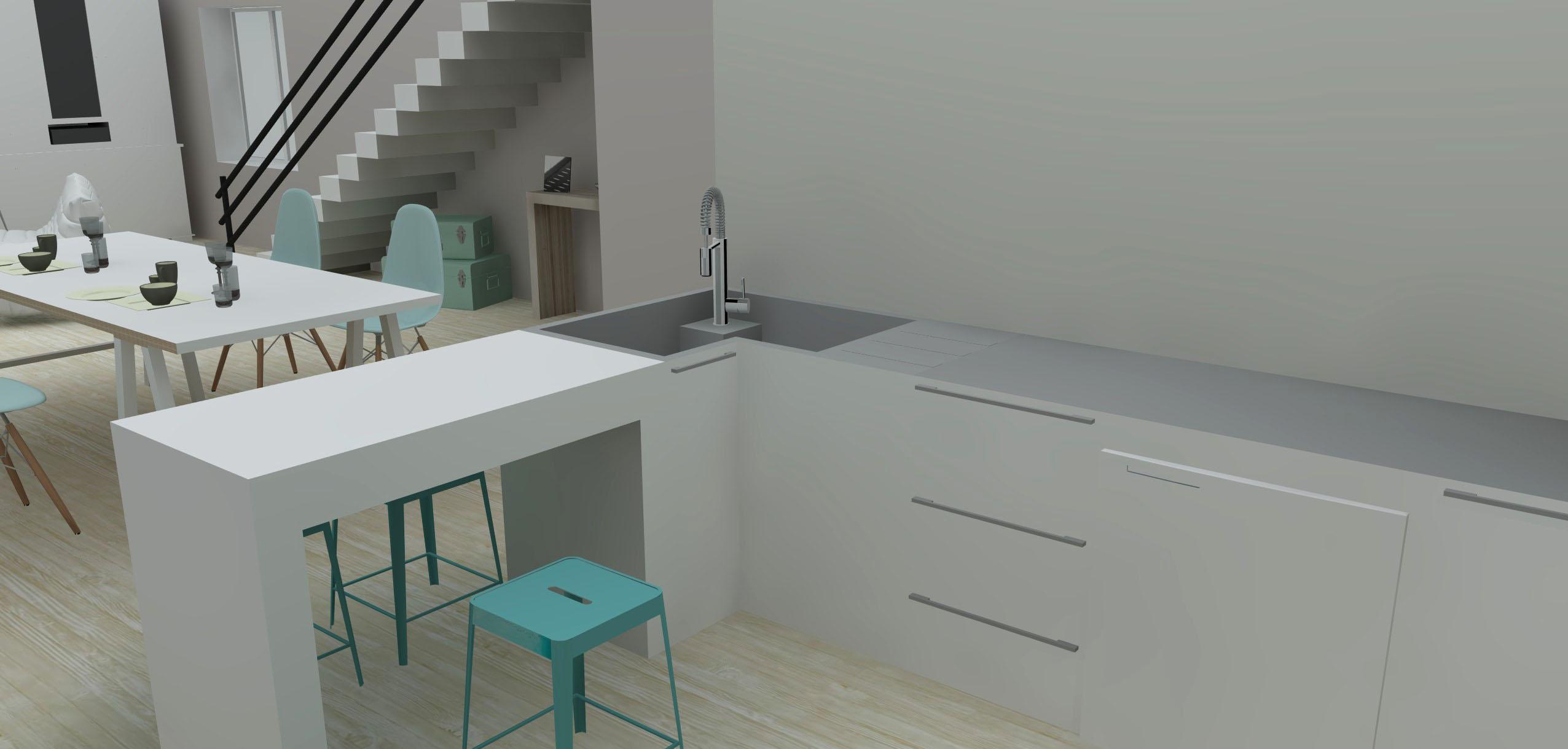 Am nagement d int rieur pastel home l 39 atelier d 39 elisa for Amenagement d interieur