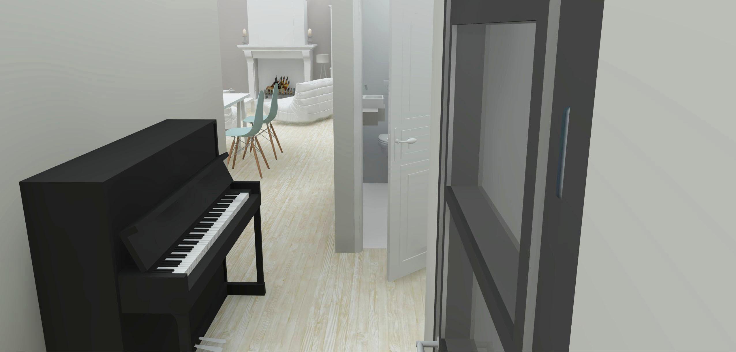 Architecture Maison Nimoise entrée piano L'Atelier d'Elisa