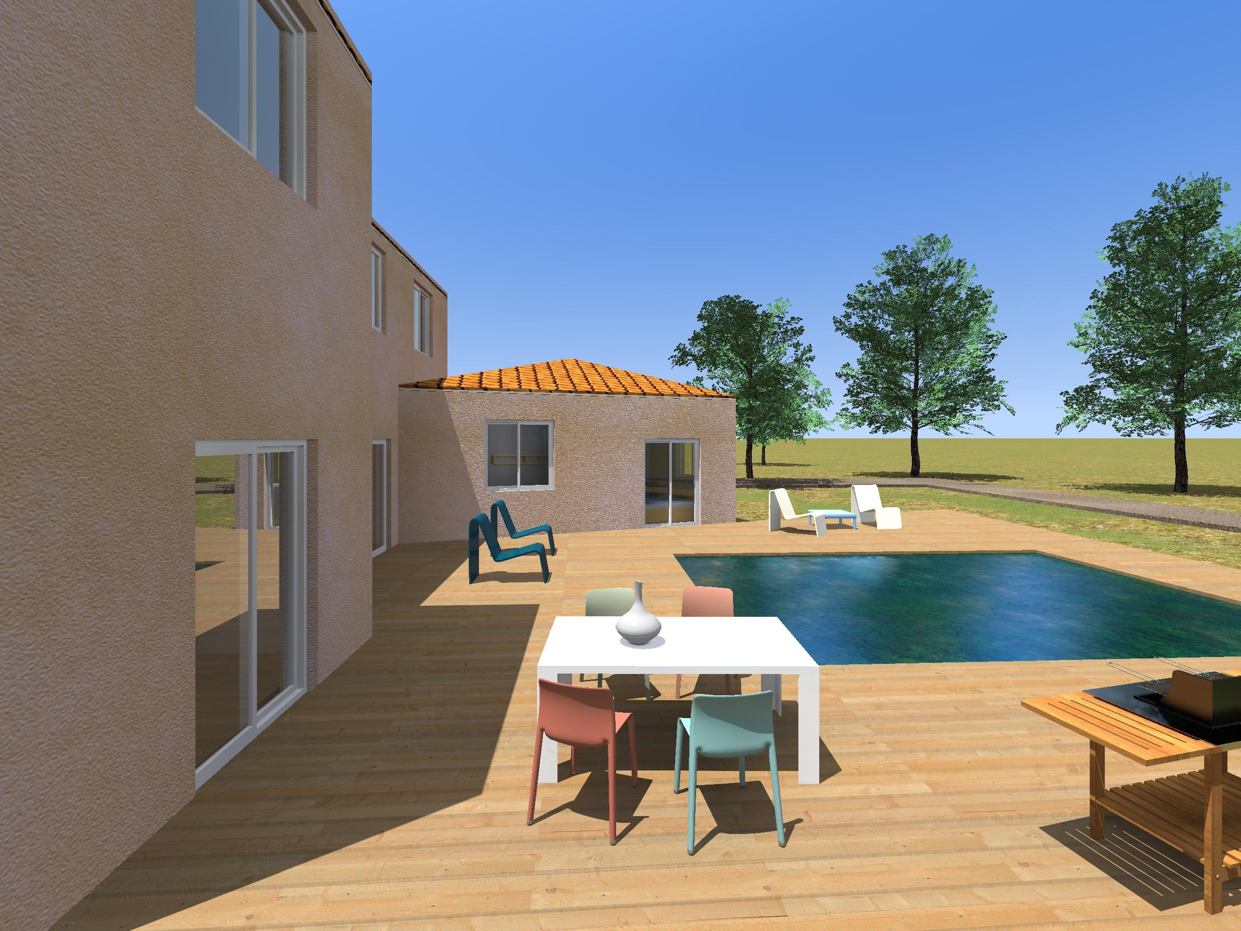 Architecture Maison Nimoise jardin L'Atelier d'Elisa