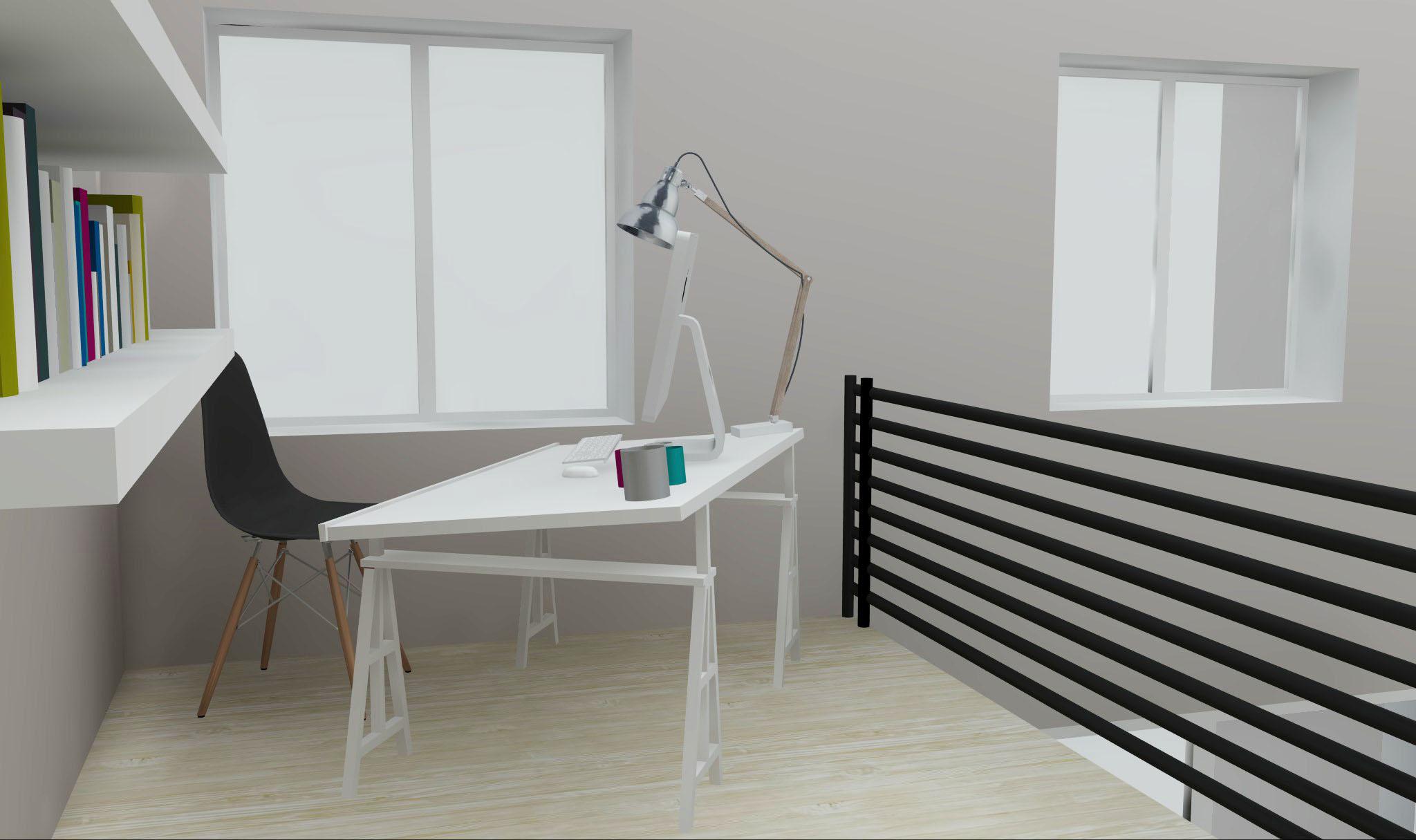 Architecture Maison Nimoise mezzanine bureau L'Atelier d'Elisa