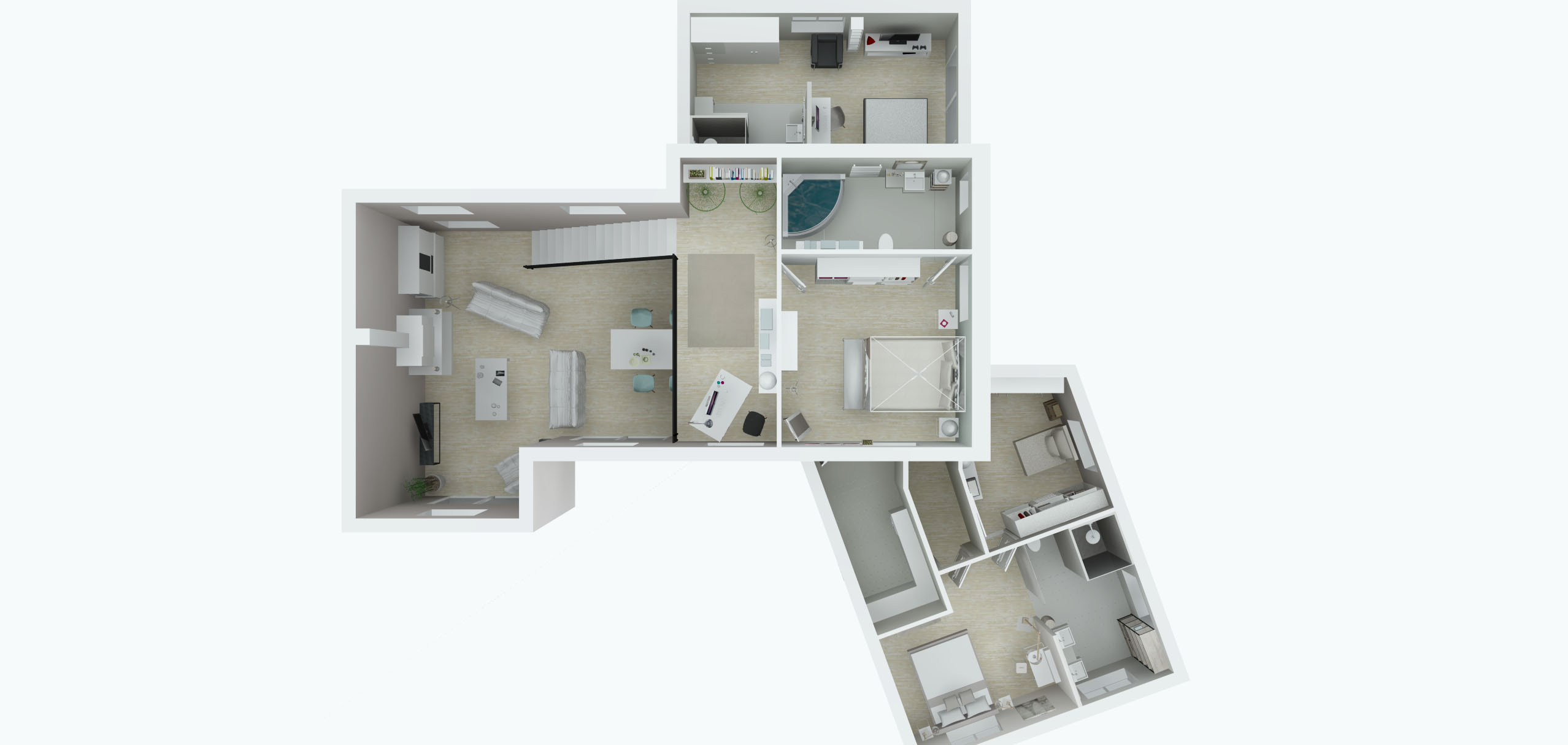 Architecture Maison Nimoise plan R+1 L'Atelier d'Elisa