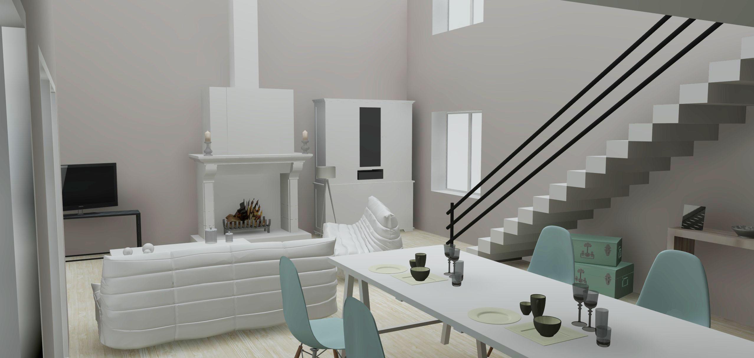 Architecture Maison Nimoise séjour L'Atelier d'Elisa