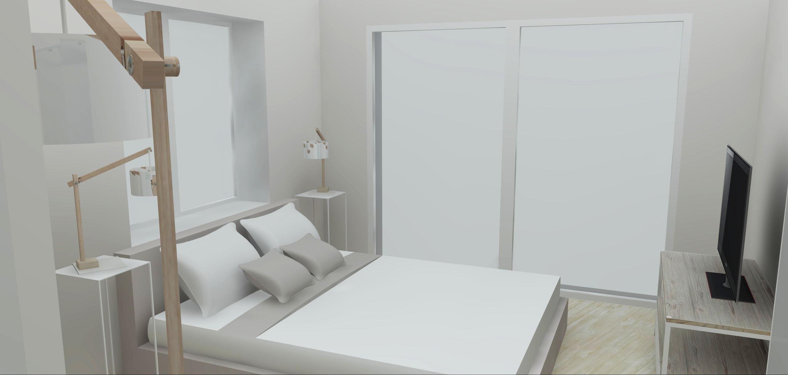 Architecture Maison Nimoise suite parentale lit L'Atelier d'Elisa