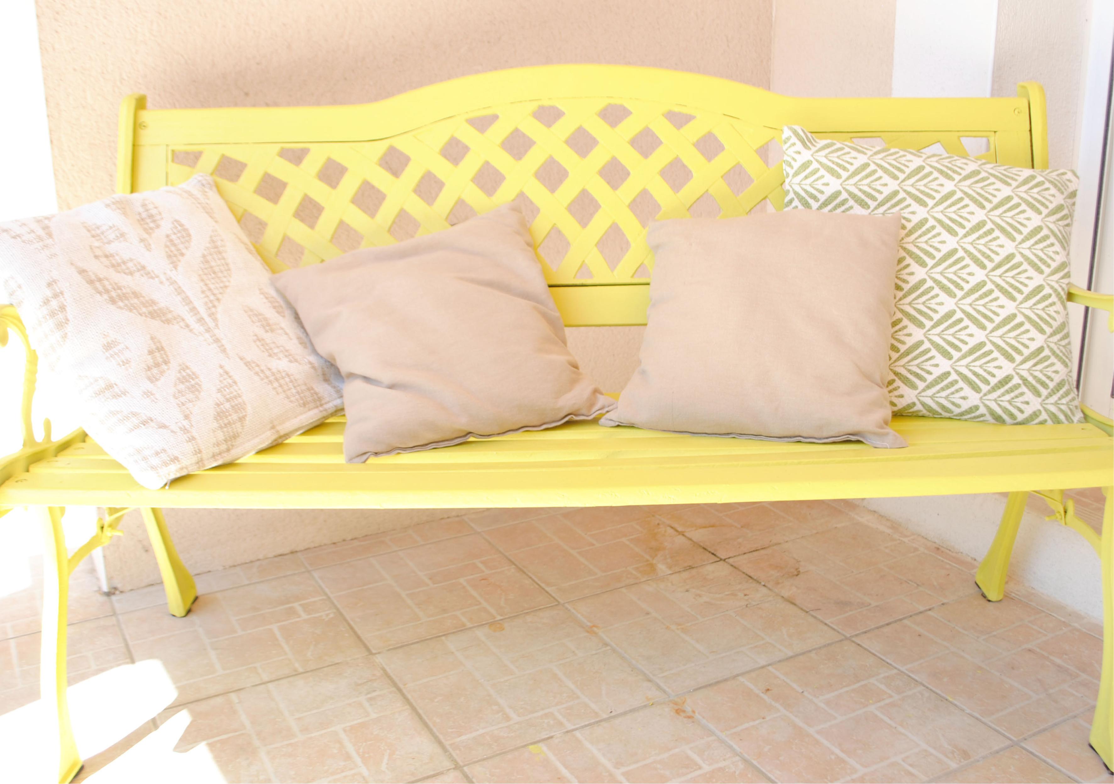 Restauration de mobilier banc tropical l'Atelier d'Elisa