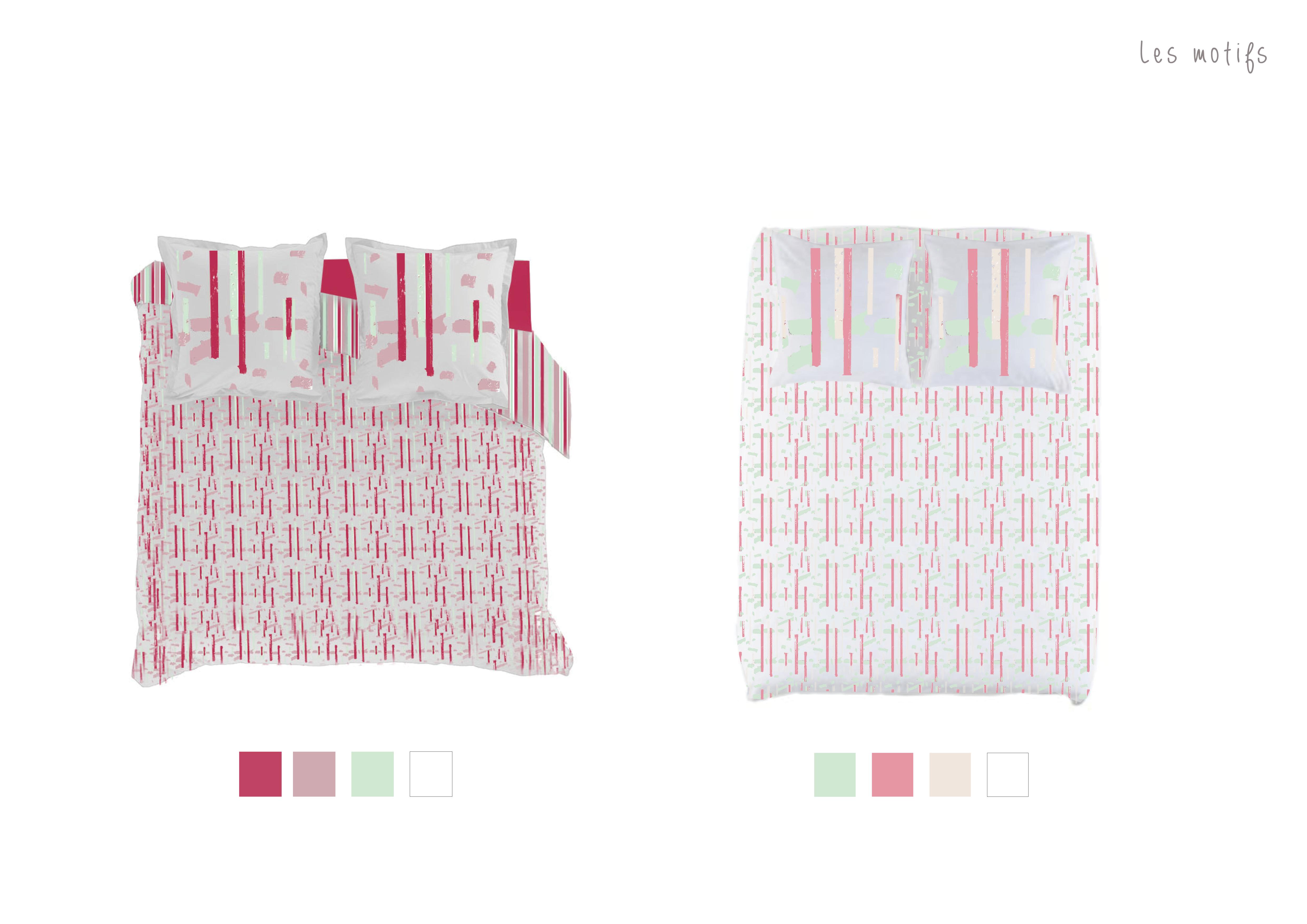 Graphisme motifs textile linge de lit latelierdelisa nimes2