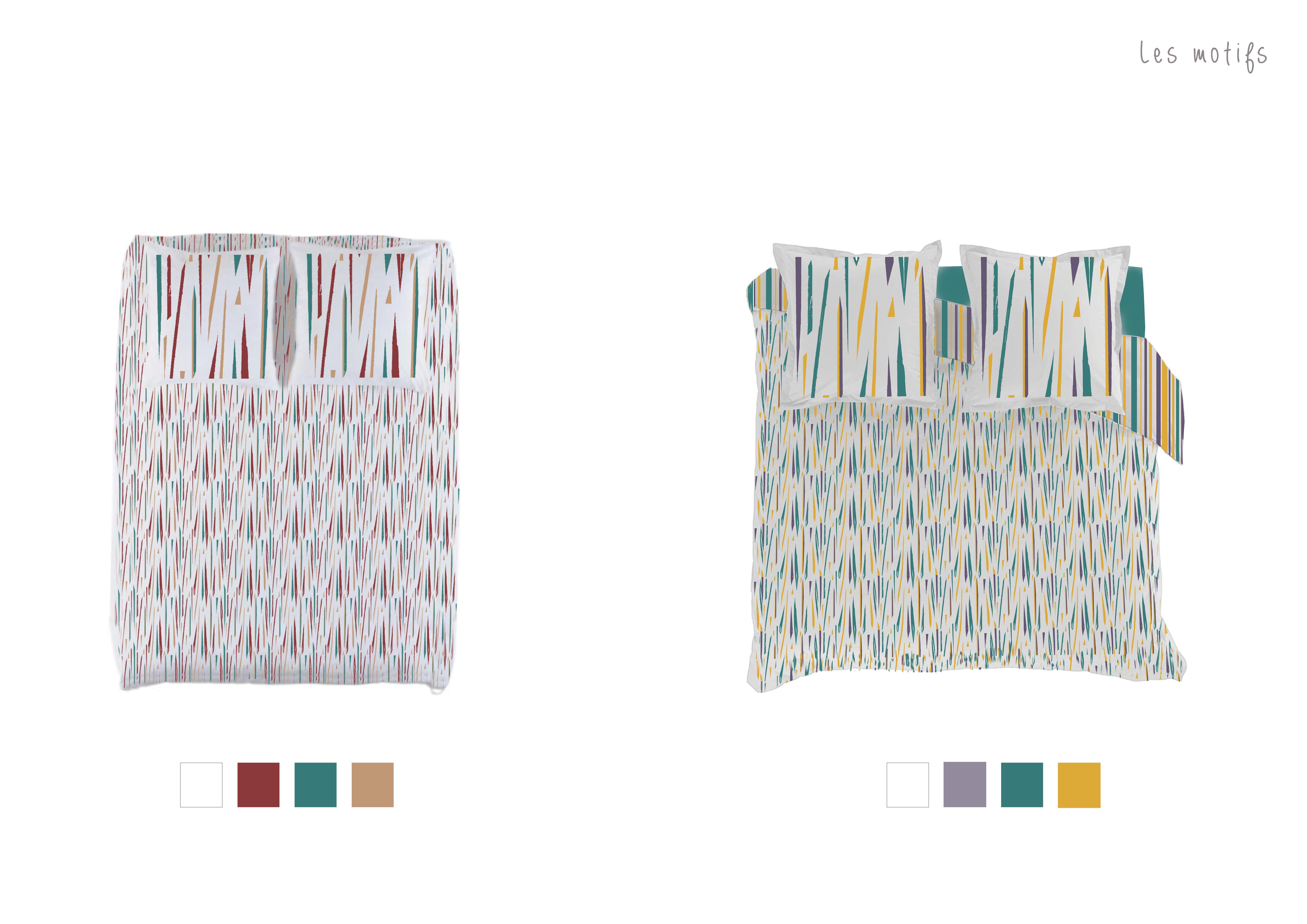 Graphisme motifs textile linge de lit latelierdelisa nimes5