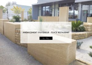 PLACE ACCES RESTAURANT LATELIER DELISA NIMES AMENAGEMENT EXTERIEUR