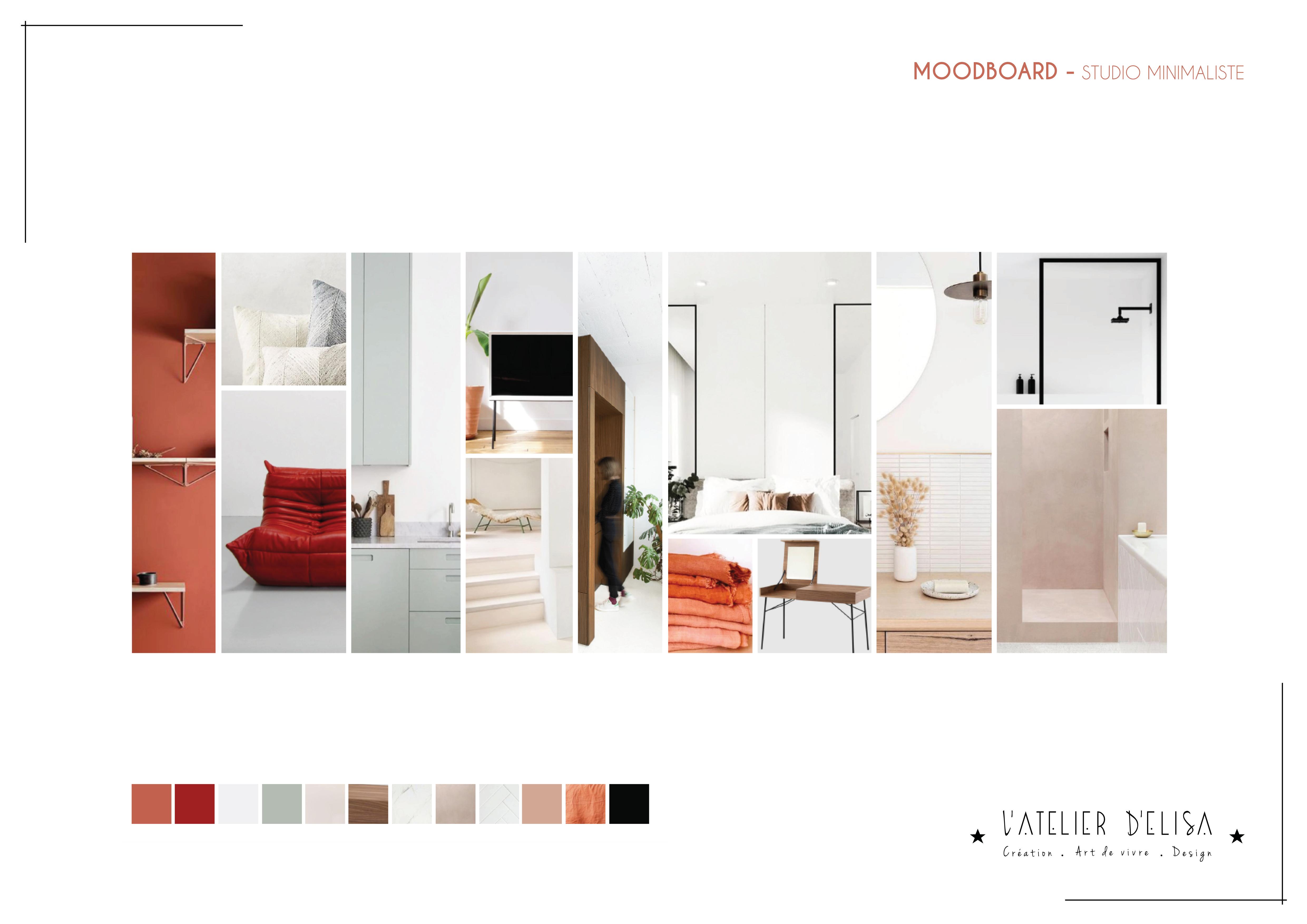 MOODBOARD - STUDIO MINIMALISTE